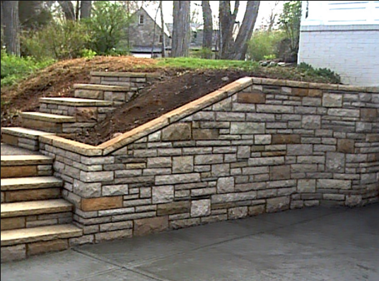 High Point Brick and Stone Step installation